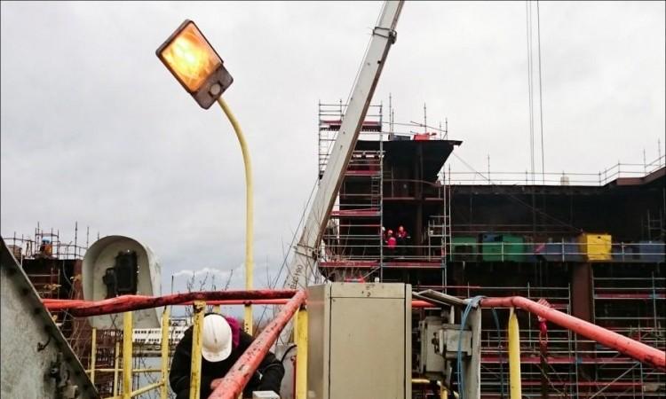 Port Północny - spawanie zakończenia kabla